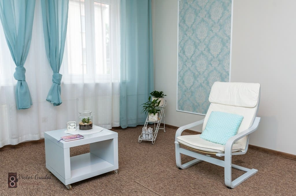 Fotel dla pacjenta psychoterapeuty
